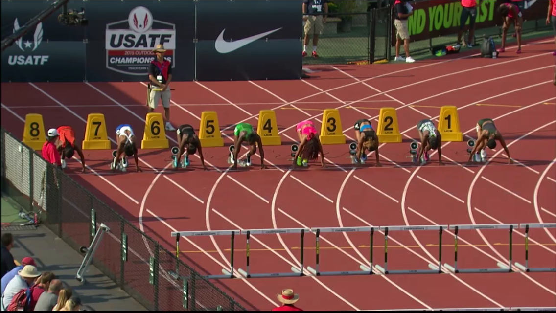 Women's 100m Hurdles Prelim Heat 1 - USATF Outdoor Track and Field